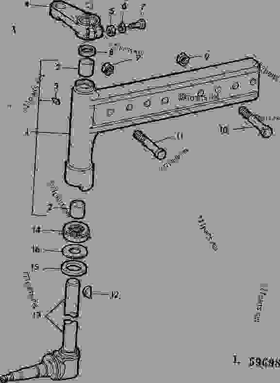 FRONT AXLE KNEE, SPINDLE AND KNUCKLE (SWEPT BACK FRONT