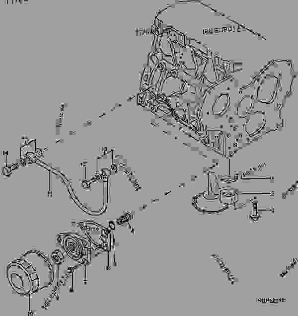 OIL PUMP INTAKE, OIL FILTER AND INJECTION PUMP LUBE LINE