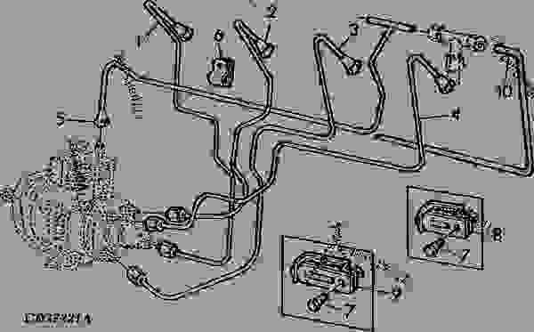 FUEL LINES FOR STANADYNE FUEL INJECTION PUMP (EARLY DESIGN