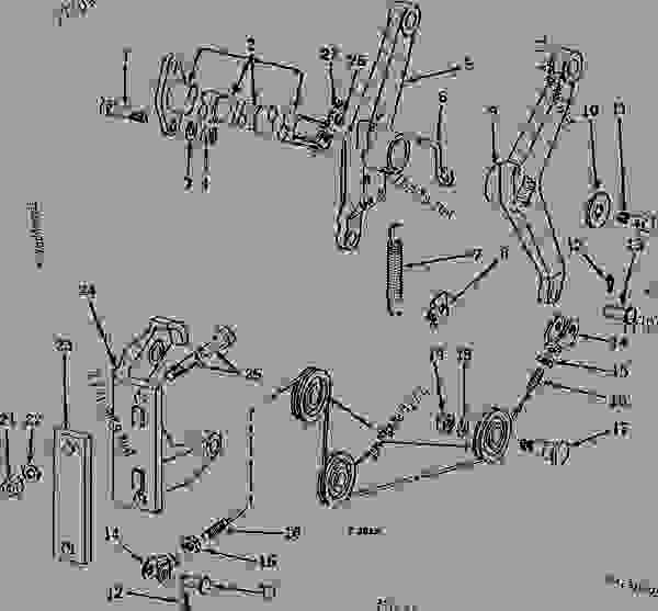 FRONT ROCKSHAFT AND LIFT ARMS (SINGLE AND DUAL) (ROW-CROP