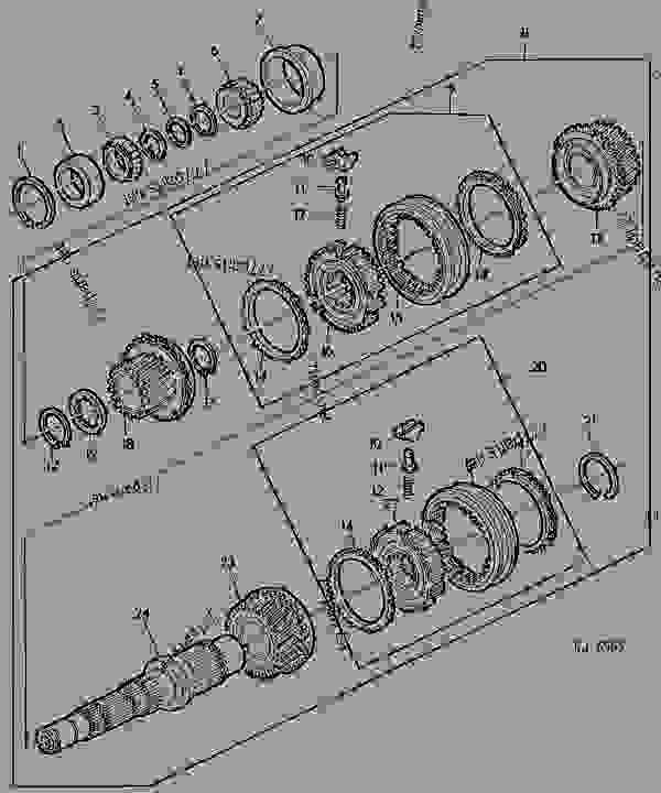 TRANSMISSION DRIVE SHAFT AND SYNCHRONIZING PARTS [01I04