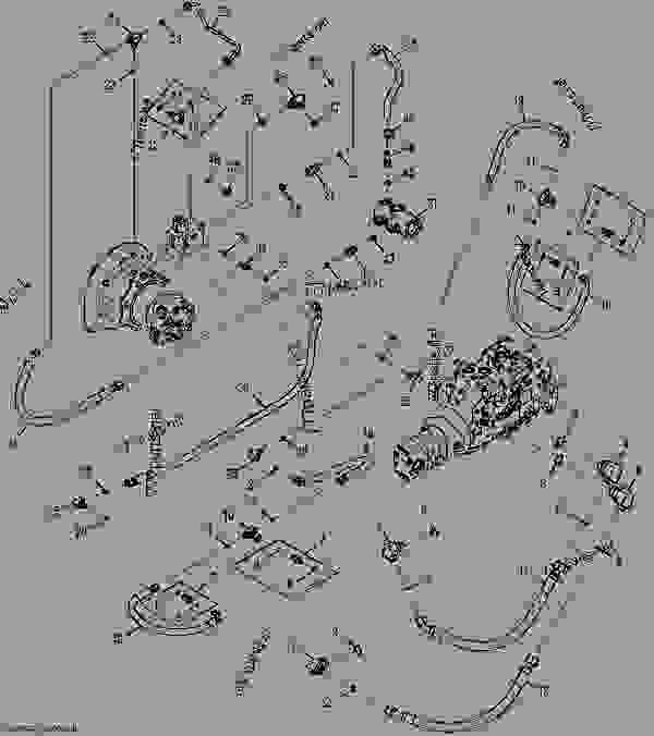 Right Hydrostatic Drive Hydraulics (Manual Controls
