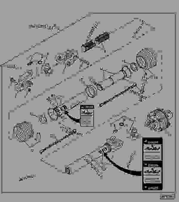 Driveline, Splitter To Wing Gear Case (Walterscheid