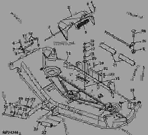 MOWER DECK AND DISCHARGE CHUTE (DECK SN M00072B) [3