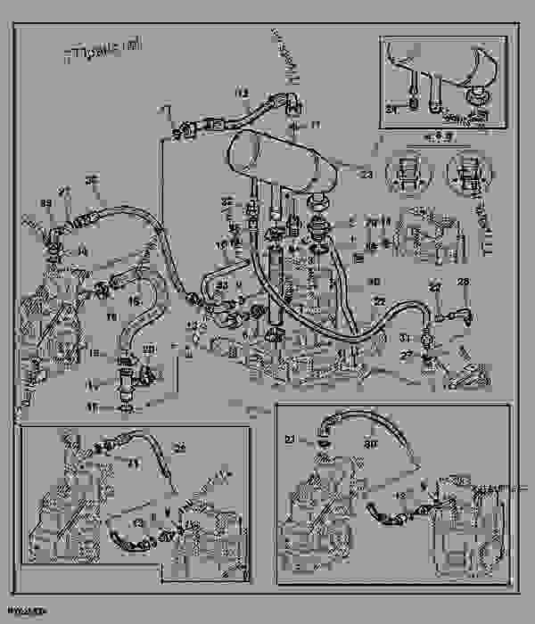 1020 John Deere Wiring Harness Diagram Hydraulic Oil Reservoir Oil Lines Hydr Pump 25 40cm3