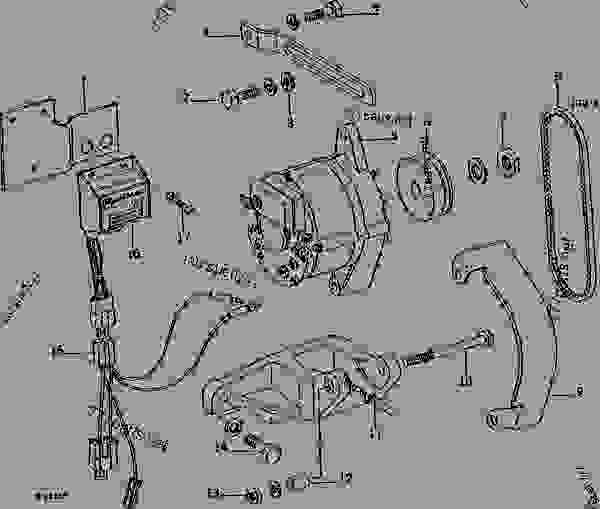 ALTERNATOR, REGULATOR, AND MOUNTING BRACKETS (TRACTOR