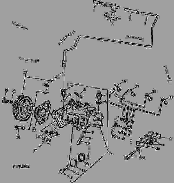 FUEL INJECTION PUMP AND FUEL LINES (ROTO-DIESEL) (ENGINE