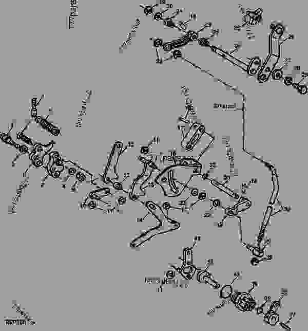 ROCKSHAFT CONTROL LINKAGE AND LOAD SELECTOR CONTROL [05E08
