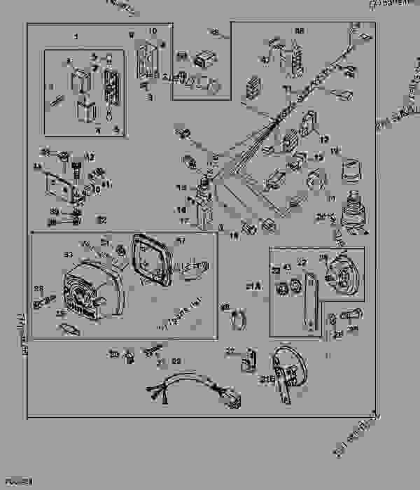 john deere gator alternator wiring diagram am receiver block of radio turn signals and horns utility vehicle list spare parts