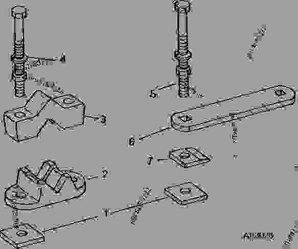 TOOLBAR CLAMPS FOR HYDRAULIC MARKER (1970-1987) [G23