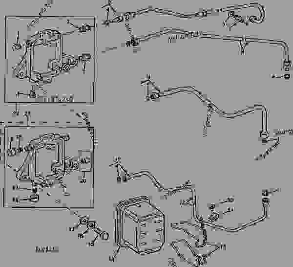 FUEL FILTER AND LINES ( MACHINE SERIAL NO. 101-4000