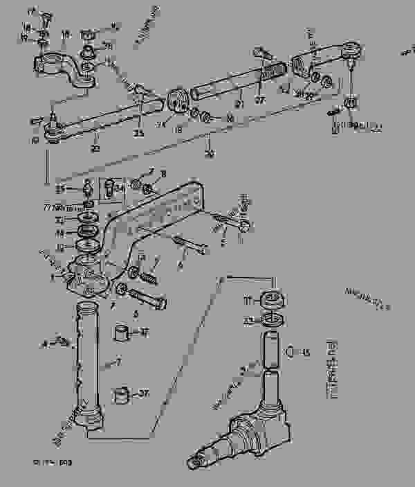 FRONT AXLE KNEE,SPINDLE KNUCKLE AND TRACKROD/MULTI-CROP