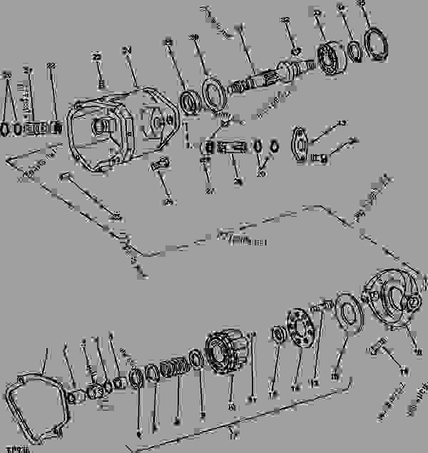 John Deere L130 Hydrostatic Transmission Diagram And Parts