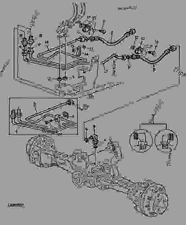 HYDROSTATIC STEERING, OIL LINES WITH FRONT WHEEL DRIVE (2