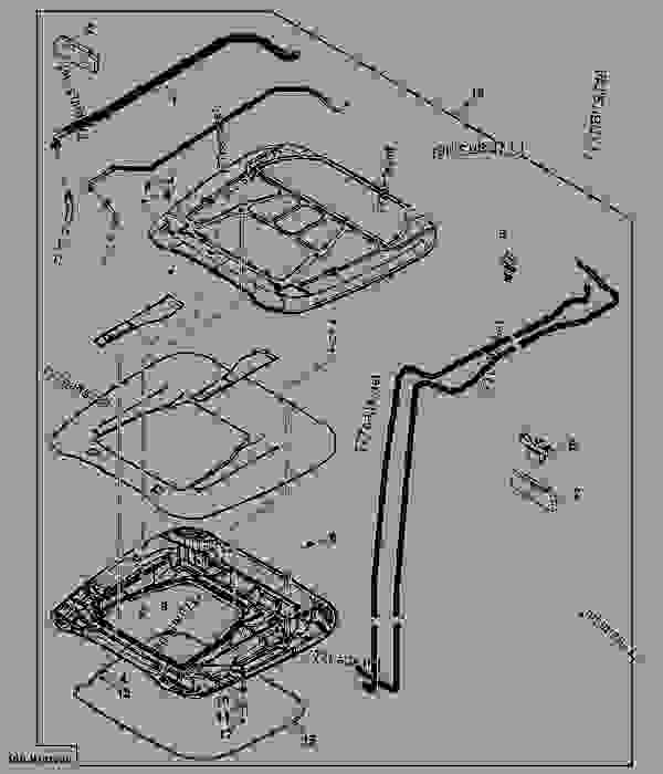 INNER AND OUTER ROOF ASSEMBLY (SERVICE ONLY) (USE WITH