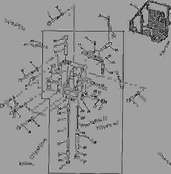 PTO CLUTCH VALVE HOUSING (POWER SHIFT TRANSMISSION