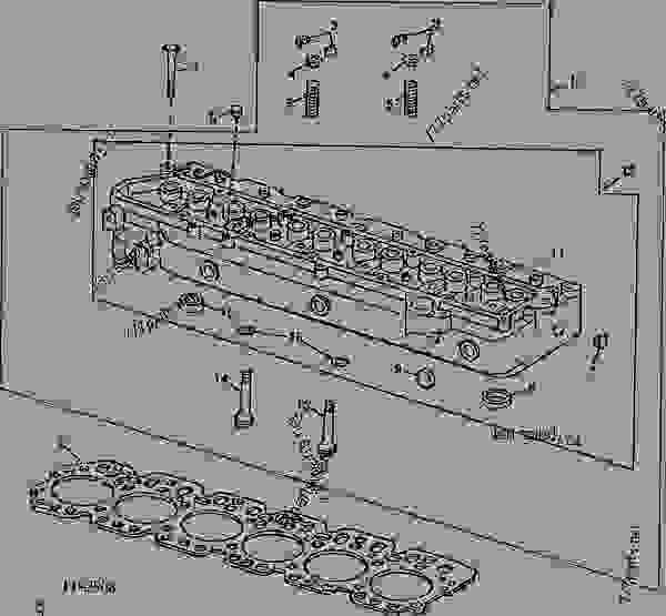 CODE 5101 CYLINDER HEAD, HEAD GASKET AND VALVES (6059