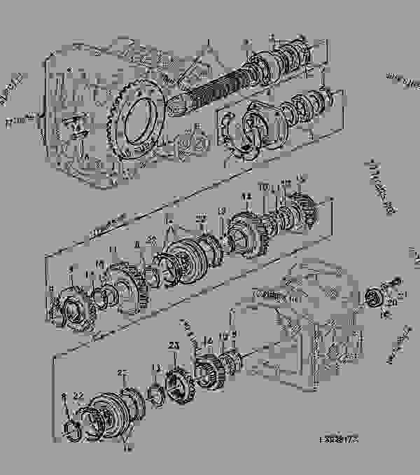 Differential Drive Shaft/Ring Gear, 6-Range Transmission