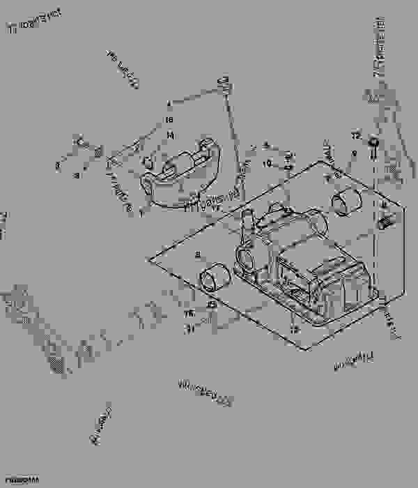 ROCKSHAFT HOUSING, DIPSTICK AND CENTER LINK BRACKET