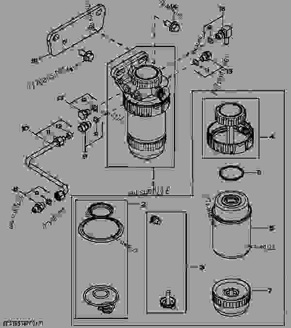 John Deere 4045 Fuel Filter, John, Free Engine Image For