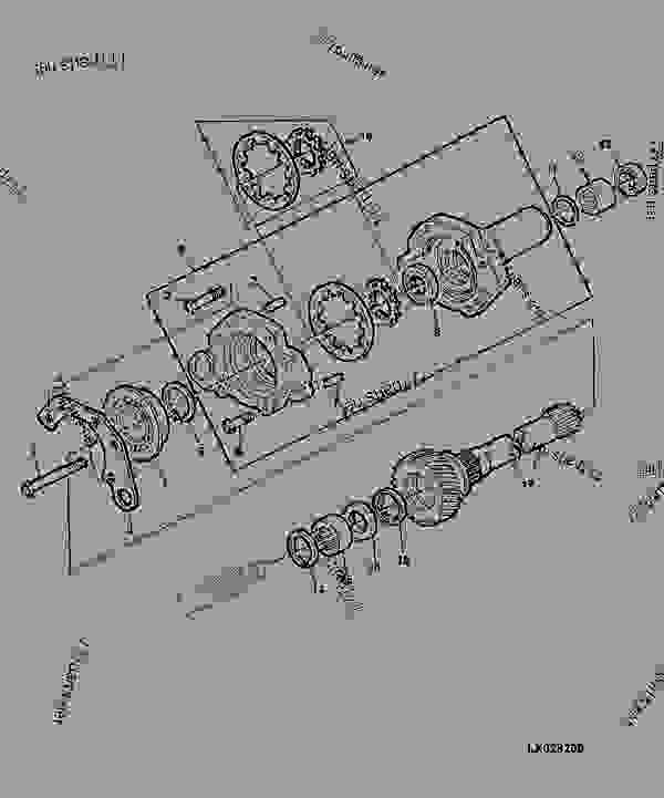 TRANSMISSION OIL PUMP / PTO DRIVE SHAFT FOR TRACTOR SERIAL