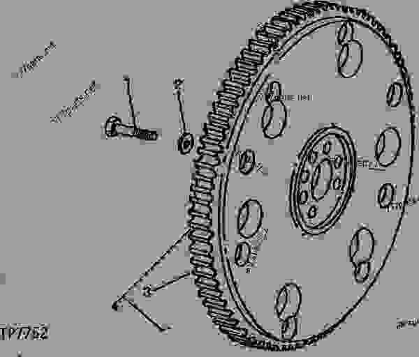 CODE 1518 FLYWHEEL(USE WITH TORQUE CONVERTER) [01C24