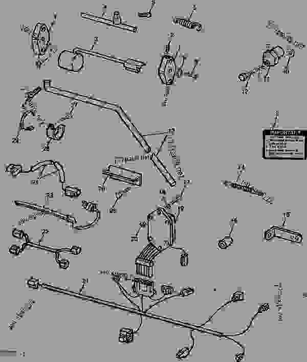 John Deere 950 Tractor Wiring Harness John Deere 755