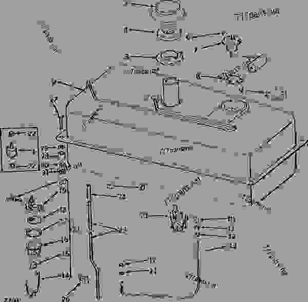 FUEL TANK, FUEL FILTER AND ASSOCIATED PARTS (GASOLINE