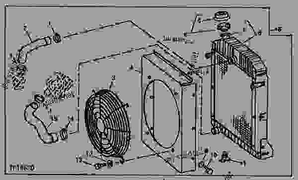 RADIATOR, FAN SHROUD AND GUARD KIT (U.S. ATTACHMENT