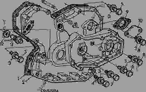 TIMING GEAR COVER, CODE 4408, 4409, 4410, 4411 [01D21