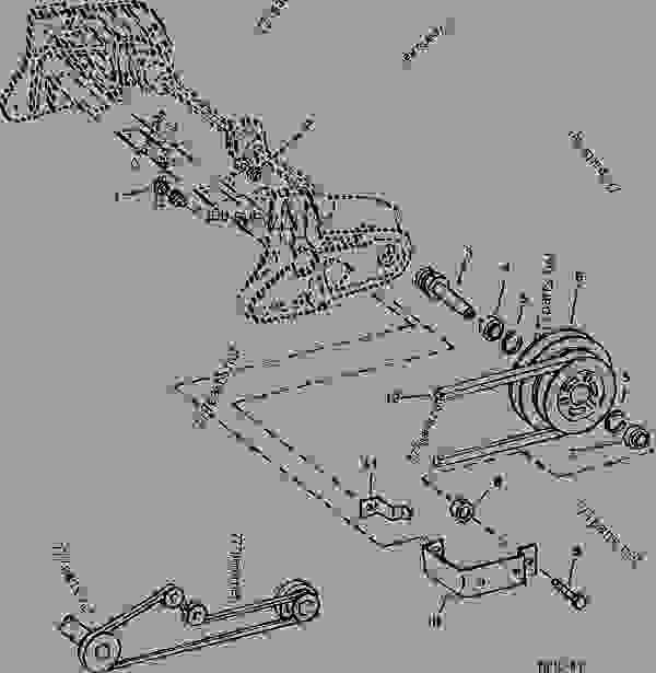 UPPER DRIVE SHAFT, SHEAVE AND MOUNTINGS (FIXED SPEED WITH