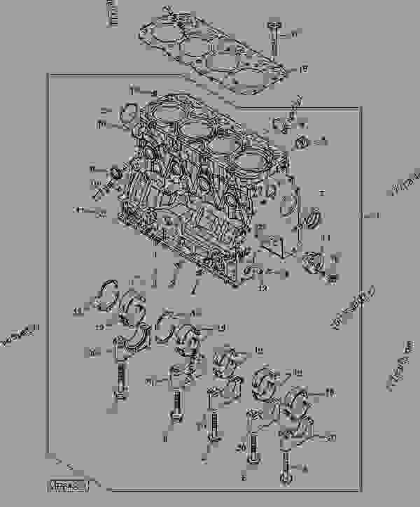 Cylinder Block And Main Bearings (4TNV88-BMJTLB) (711001