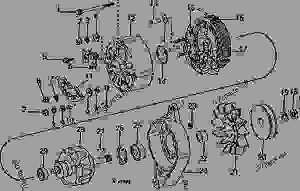 ALTERNATOR (MOTOROLA NO. A12NJD453) (EA-202-D, EA-180-G