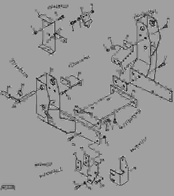 MOUNTING FRAMES (3910 AND 4610 FORD TRACTORS) [A18