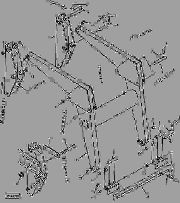 MASTS, BOOM AND BUCKET ATTACHING BRACKETS (520 LOADER