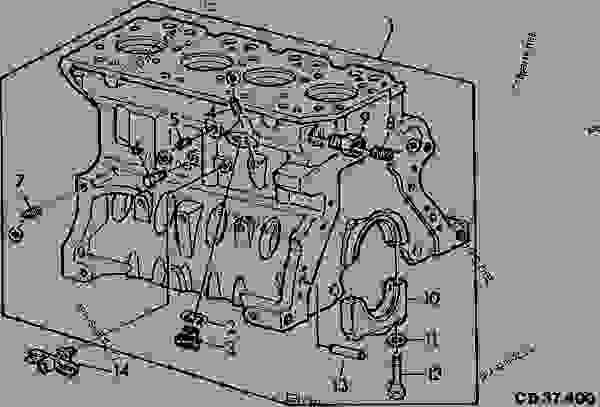 CYLINDER BLOCK (STRUCTURAL)(REAR & L.H. VIEW) CODE 4609