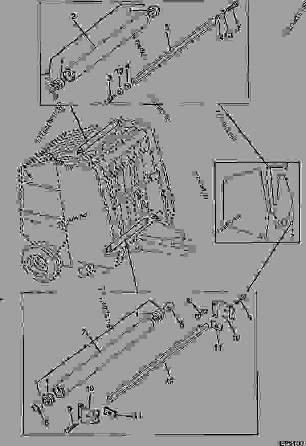 John Deere 435 Baler Wiring Diagram. John Deere. Schematic