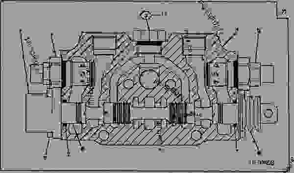 REPLACEMENT BACKHOE CONTROL VALVE BUCKET SECTION [02H21