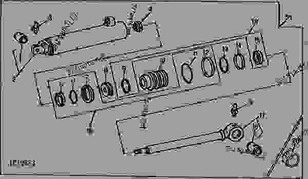 POWER STEERING CYLINDER (WITHOUT MECHANICAL FRONT WHEEL