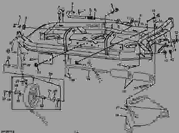 John Deere Z425 54 Inch Mower Deck Parts