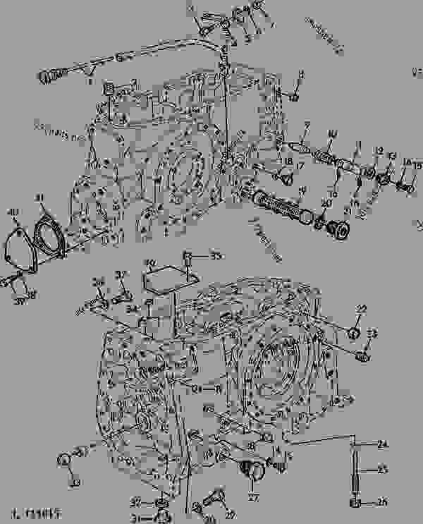 TRANSMISSION CASE (COLLAR-SHIFT TRANSMISSION) [39