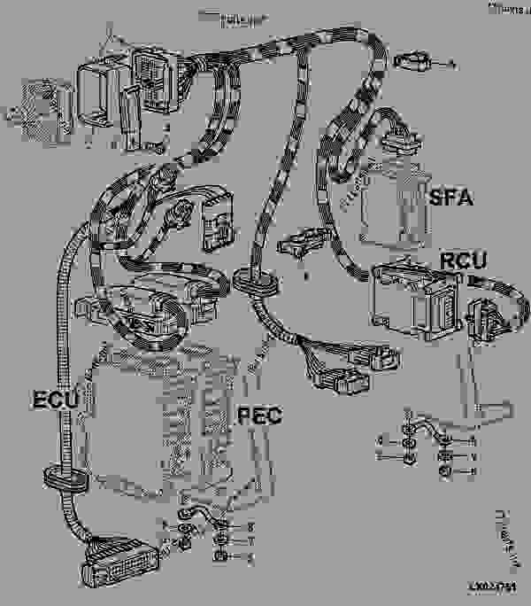 WIRING HARNESS FOR ELECTRONIC CONTROL UNITS, ENGINE WITH