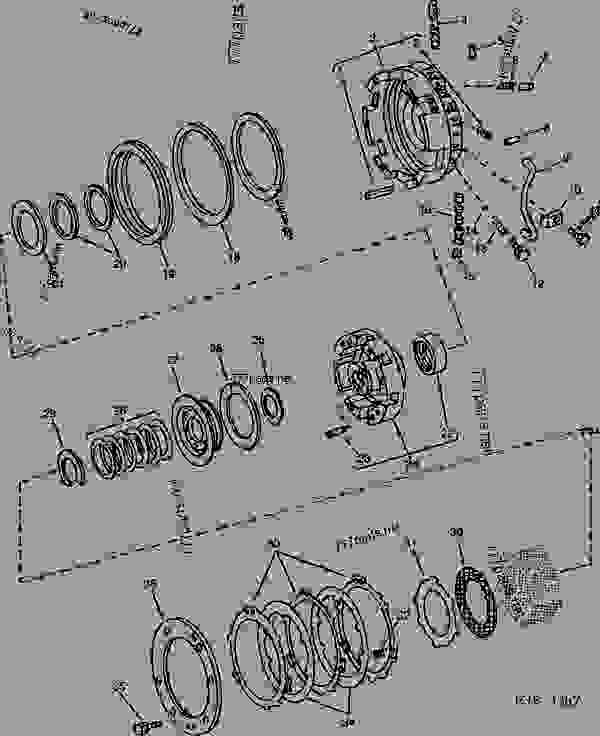 BRAKE PISTON HOUSING AND CLUTCH DRUM (QUAD-RANGE) [04D03