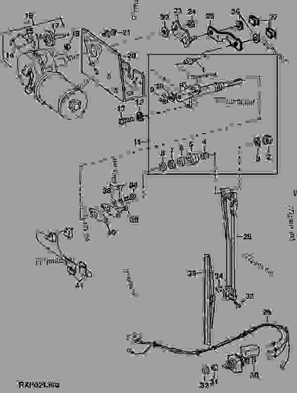 RIGHT-HAND WINDSHIELD WIPER AND MOTOR (WIPER MOTOR NO