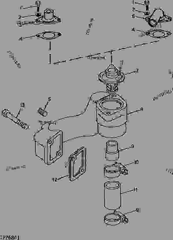 THERMOSTAT HOUSING AND COVERS (WITHOUT TURBOCHARGER) CODE