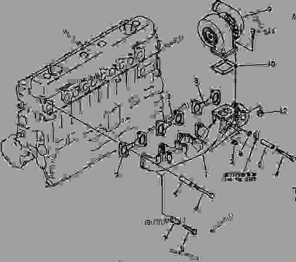 EXHAUST MANIFOLD AND TURBOCHARGER (WITH TURBOCHARGER