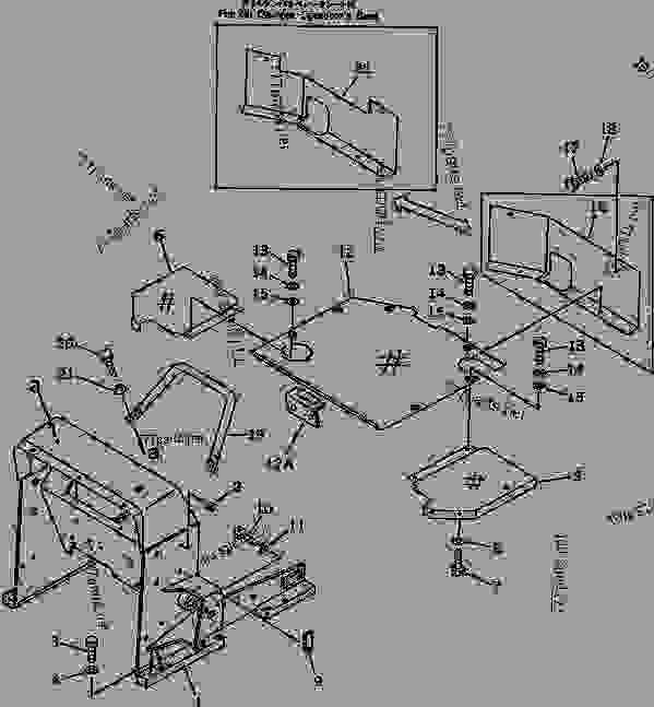 LOADER FRAME AND FLOOR PLATE (FOR PEDAL STEERING) (FOR