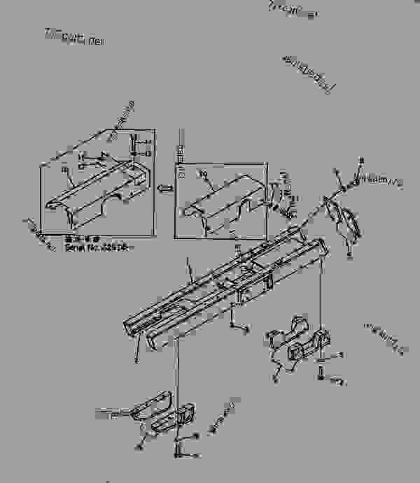 TRACK FRAME (WITH SEPARATE TYPE TRACK ROLLER GUARD