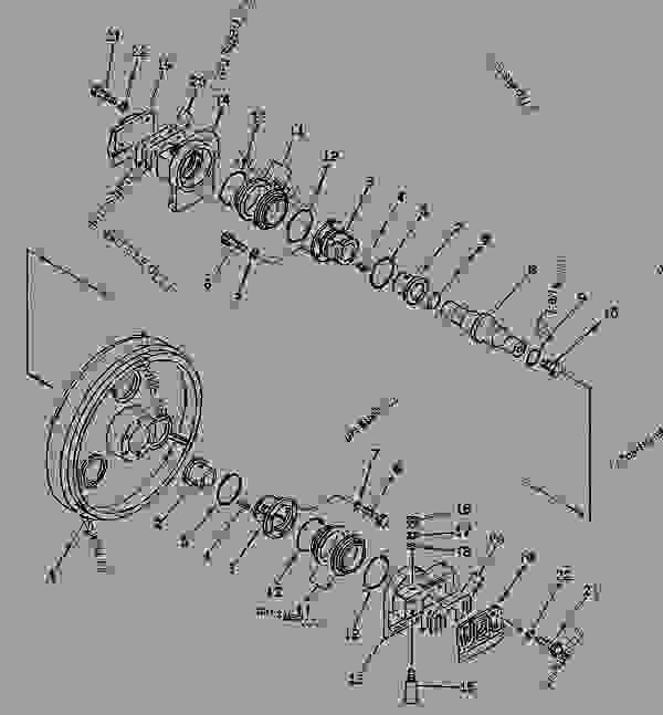 FRONT IDLER (RUBBER SHOE SPEC.) (FOR TRIMMING DOZER