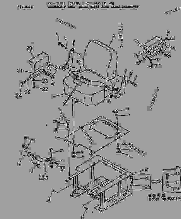 OPERATOR'S SEAT (RIGID TYPE) (FOR LEVER STEERING